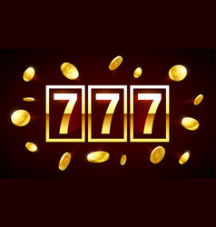 777 triple lucky sevens jackpot bright casino vector image