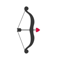 Arrow and bow icon Archery design graphic vector image