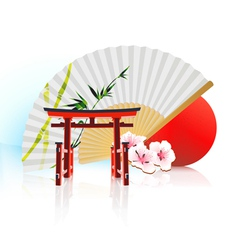 decorative traditional japanese background vector image vector image