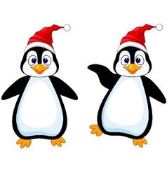 Funny penguin cartoon vector image vector image