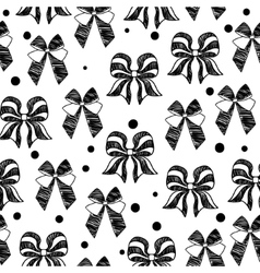 hand-drawn doodle seamless pattern with bows vector image vector image