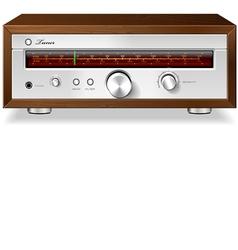Vintage Stereo Analog Radio vector image vector image