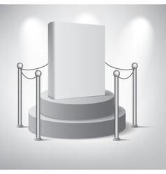 White podium on grey background vector image vector image