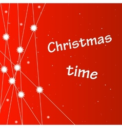 Christmas background with snowflakes and stars vector image