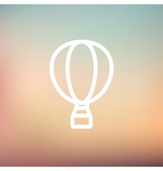 Hot air balloon thin line icon vector image