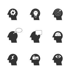 Human thinking process icons vector image vector image