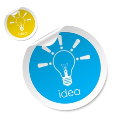 idea stick vector image