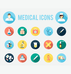 medical tools and equipment vector image vector image