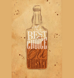 poster whiskey best choice craft vector image