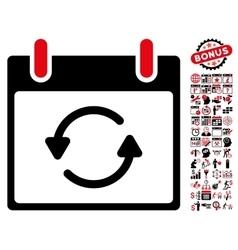 Refresh Calendar Day Flat Icon With Bonus vector image vector image