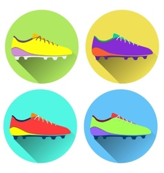 soccer shoes american vector image