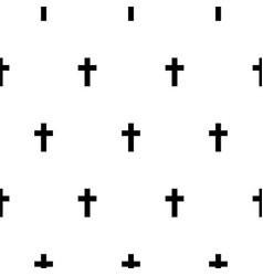 cross black and white simple scandinavian pattern vector image