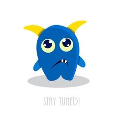 funny sad cartoon monster vector image vector image