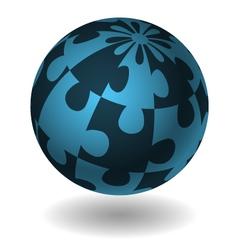 jigsaw design concept element vector image