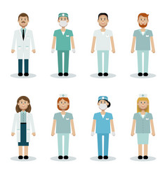 medical team vector image