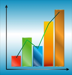 Multi colored chart vector image