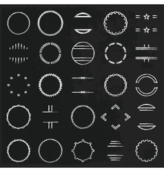 round frames vector image vector image
