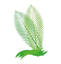 Tropical leaf icon Nature concept vector image