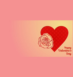 happy valentines day greeting card or horizontal vector image vector image