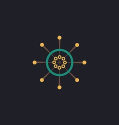 Helm computer symbol vector image