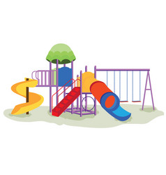 kids playground equipment with swings vector image