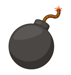 retro bomb icon cartoon style vector image