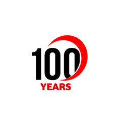 100th anniversary abstract logo one vector