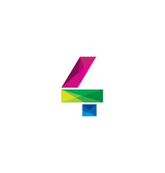 4 colorful letter logo icon design vector image