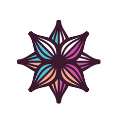 Abstract flower sign vector