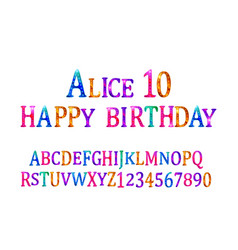 alice 10 font children vector image