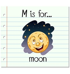 Alphabet M is for moon vector