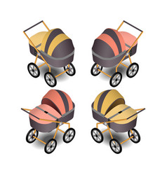 baby carriage in isometric vector image