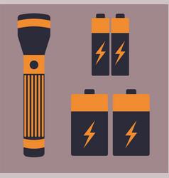 Battery energy flashlight tool vector
