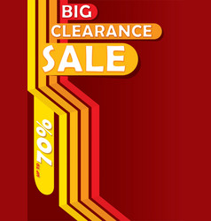 Big clearance sale banner vector