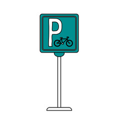 Bike parking sign vector