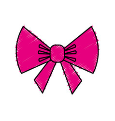 bow ribbon decorative icon vector image