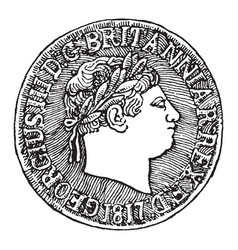 british sovereign of george iii 1817 obverse vector image