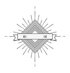 Burst frame isolated background vector