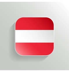 Button - Austria Flag Icon vector