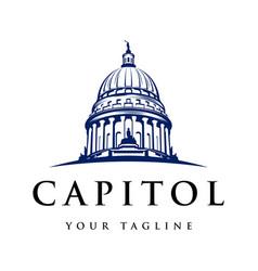 Capitol logo design vector