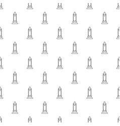 Car candle pattern seamless vector