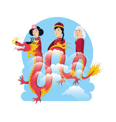 Chinese culture people characters vector