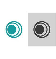 Circle sphere logo vector