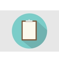 clipboard isolated long shadow vector image