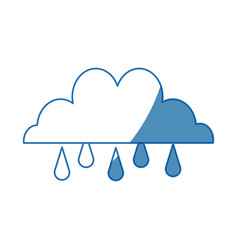 cloud rain water climate weather image vector image