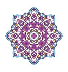 Colored floral mandala vector