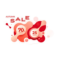 colorful autumn sale banner background design vector image