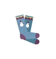 Colorful Socks Pair vector image