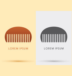 comb barber comb salon comb vector image
