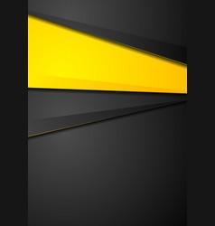 Contrast orange and black corporate design vector
